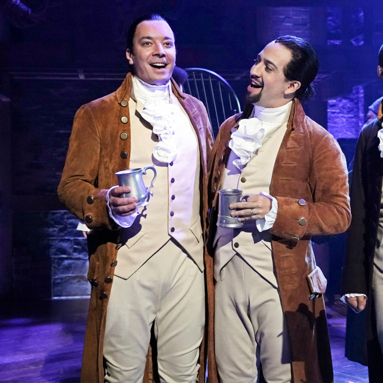 "Image of Jimmy Joins Lin-Manuel Miranda and the Hamilton Cast for ""The Story of Tonight"""