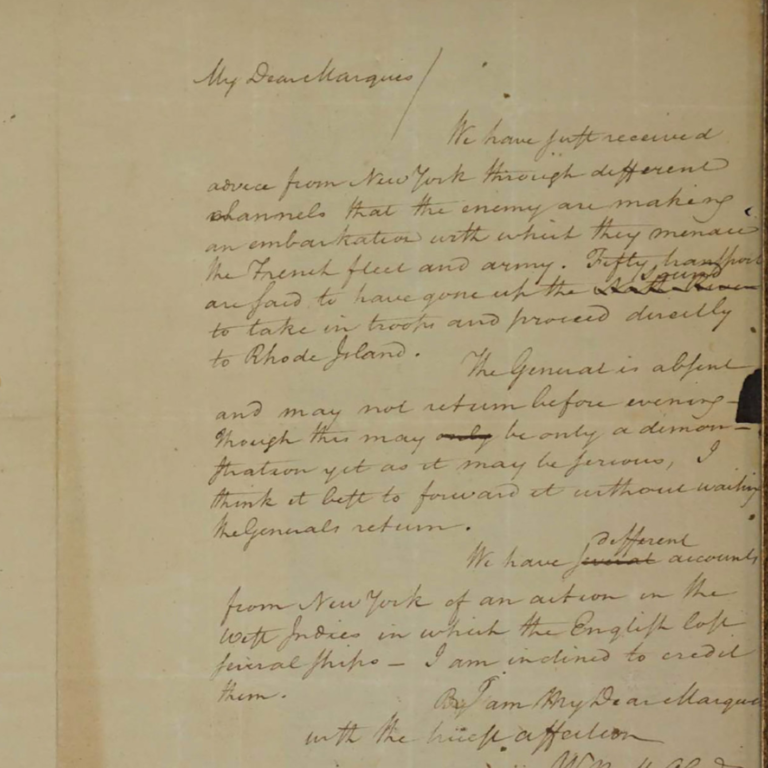 Image of A Stolen Letter Written by Alexander Hamilton in 1780 Resurfaces